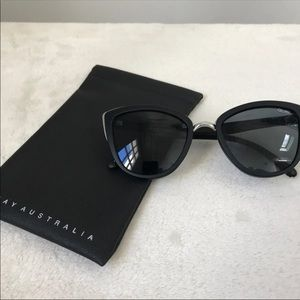 Quay Australia Black Sunglasses with Soft Case